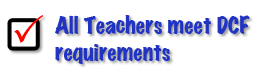 Teachers meet DCF requirements